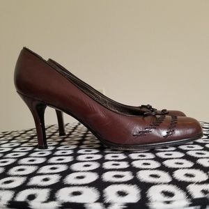 Stuart Weitzman Leather Brown Pumps 8M